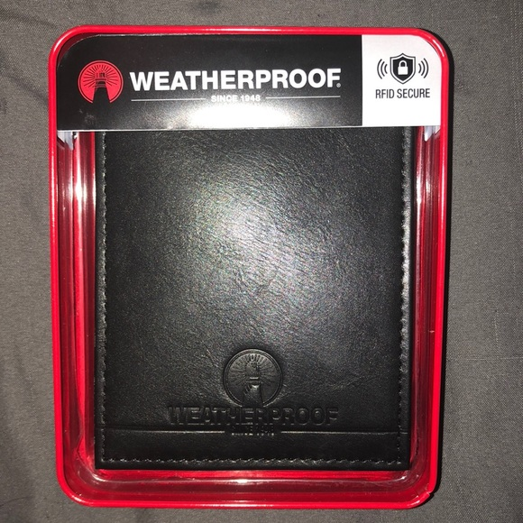 Weatherproof Other - Black Leather Wallet - Weatherproof